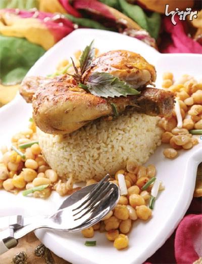 راهنمای تهیه خوراک مرغ مکزیکی به همراه برنج قهوه ای