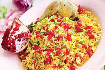 آموزش طرز تهیه انار پلو با مرغ غذای خوشمزه شب یلدا