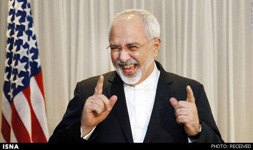 خنده محمد جواد ظریف وزیر امور خارجه ایران جهانی شد +عکس