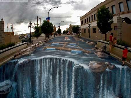 تصاویر جدید از طرح های سه بعدی شگفت انگیز در کف خیابان