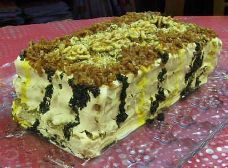 طرز تهیه کیک مجلسی و جدید کشک بادمجان برای مهمانی ها