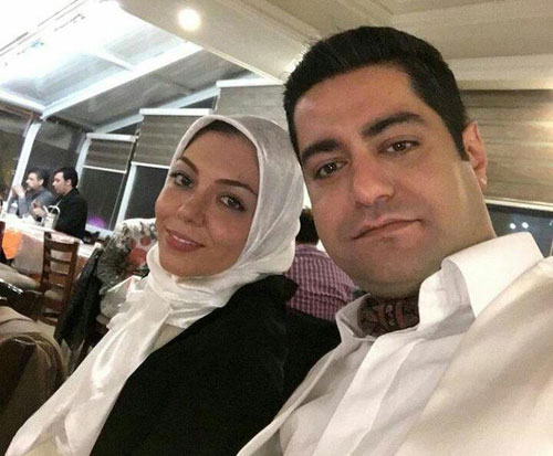 تصاویر آزاده نامداری و همسر جدیدش در جشنواره فیلم فجر