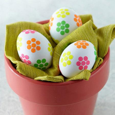 ایده های جذاب تزیین تخم مرغ  نوروز با کاغذ و پارچه 95