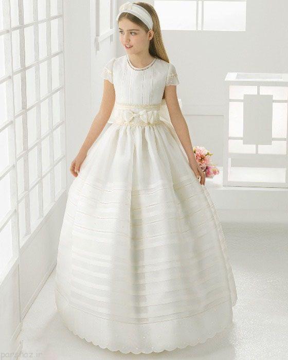 طرح های زیبا و جذاب از لباس عروس بچگانه و دخترانه 2016
