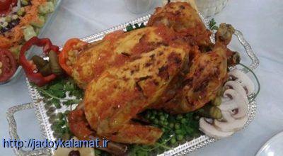 طرز درست کردن مرغ شکم پر گیلانی