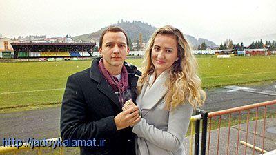 تقاضای ازدواج از داور هنگام بازی فوتبال +عکس
