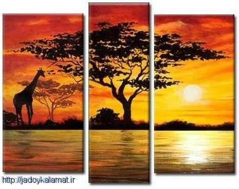 تابلو نقاشی منظره رنگ روغن به سبک رئال و پازلی