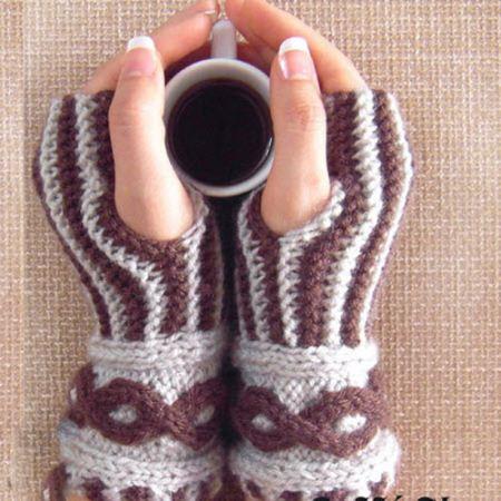 ساق دست های بسیار زیبای بافتنی زمستانه 94+عکس