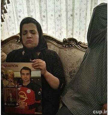 هادی نوروزی و تصاویر اندوهگین از اشک های همسر +تسلیت