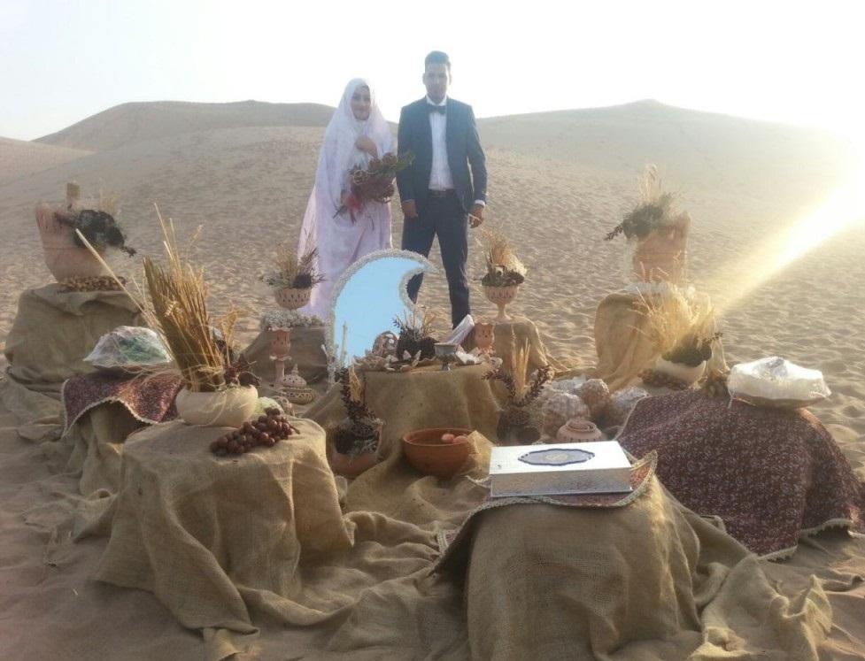عروس و داماد یزدی با ایده ای جدید مراسم عروسی