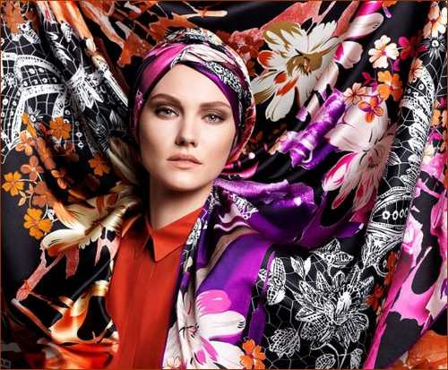 زیبا ترین مدل های جدید روسری زنانه برند ترکیه +عکس