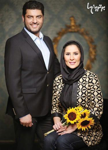 عکس آتلیه ای سام درخشانی و همسرش عسل خانم